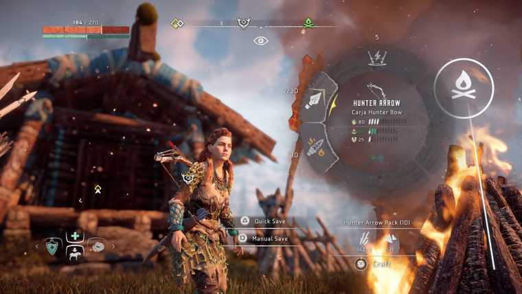 Screen capture from Horizon Zero Dawn on PS4.